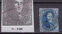 N° 11 Margé  VARIETE 298  : Griffe Effigie - 1858-1862 Medaillons (9/12)
