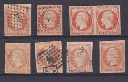 TIMBRE FRANCE - N° 16.LOT De 8 TP B à TB. Oblitérations. - 1853-1860 Napoleon III