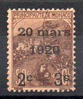 MONACO - YT N° 36 - Neuf * - MH - Cote: 55,00 € - Monaco