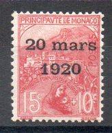 MONACO - YT N° 39 - Neuf * - MH - Cote: 35,00 € - Unused Stamps