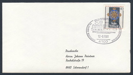 Deutschland Germany 1981 Brief Cover - 75 Jahre Bahnhof Hohenbudberg - Briefmarkenschau / Railway Station / Gare - Treinen