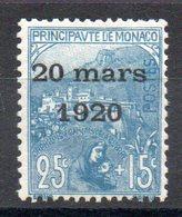 MONACO - YT N° 40 - Neuf * - MH - Cote: 15,00 € - Unused Stamps
