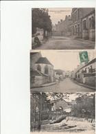 3 CPA:VILLENEUVE SUR BELLOT (77) LES ÉCOLES,RUE DE LA GARE,GLACIS DU MOULIN - Francia