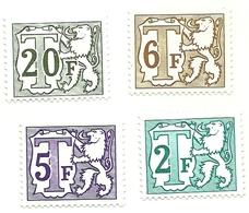 1966 - Belgio T67 + T69/T70 + T71   Segnatasse                    C4027 - Taxes