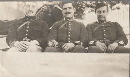 Photo Juillet 1915 LUNEVILLE - Dragons Du 2ème Régiment, Adj. Jelliol, Bertholet Et Viel (A216, Ww1, Wk 1) - War 1914-18