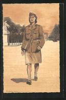 CPA Armée Francaise De La Libération, Femme-Soldat, Französische Soldatin - Militaria