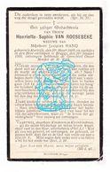 DP † 100 Ste Levensjaar - Henriette S. Van Roosebeke ° Kortrijk 1809 † Brugge 1909 X Jacques Hano - Images Religieuses