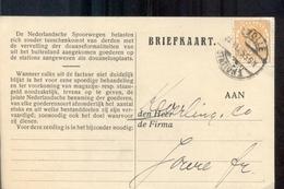 Zwolle - Station - 1925 - Langebalk - Postal History
