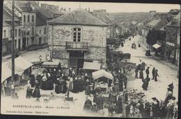 CPA Barneville Sur Mer Mairie Le Marché Collection Giot Buraliste Cliché Coron CAD 1907 - Altri Comuni