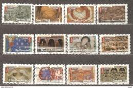 France: Full Set Of 12 Used Stamps, Roman Art, 2010, Mi#4926-4927 - Francia