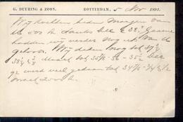 Rotterdam - G. Duuring & Zoon - 1891 - Postal History