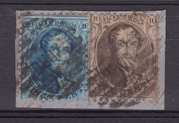 N° 14 Et 15 / Fragment  NORD 8 Barres  ( Dentelure ? ) - 1863-1864 Médaillons (13/16)