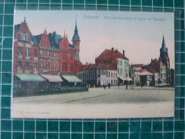 Oostende Ostende Plaçe Vanderzweep Et Eglise Du Hazegras - Oostende