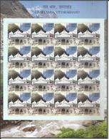 Char Dham,Temple Kedarnath,Lord Shiva, Mythology,Holy Site,Sheet Let Of 16 MNH Stamps - India