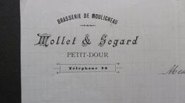 Corrrespondance BRASSERIE De MOULIGNEAU Petit-Dour, 4 Mai 1906 Signé - Belgique