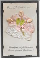 BONNET Sainte CATHERINE Rose à Dentelle, Glands, Feuilles Et Ruban - Mechanical