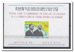 Zuid Korea 1967, Postfris MNH, State Visit Of President Heinrich Lübke Of Germany - Korea (Zuid)