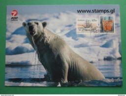 POLAR BEAR EMERGING FROM THE SEA - Groenlandia