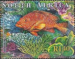 SOUTH AFRICA 2001 Marine Life - 1r.40 - Coral Rock Cod FU - África Del Sur (1961-...)
