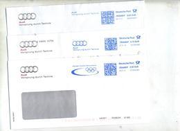 Lettre Flamme Frankit  Voiture Audi Technique Jeu Olympique - Marcofilia - EMA ( Maquina De Huellas A Franquear)