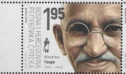BOSNIA SERB, 2019, MNH,GANDHI, 1v - Mahatma Gandhi
