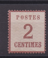 TIMBRE FRANCE -  ALSACE LORRAINE - N°2 Cote 225€. Neuf  Signé CALVES. - Alsace-Lorraine