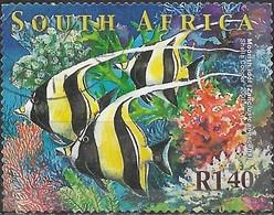 SOUTH AFRICA 2001 Marine Life - 1r.40 - Moorish Idols FU - África Del Sur (1961-...)