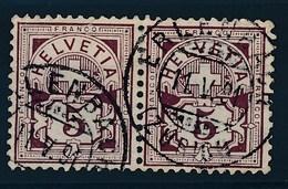 "HELVETIA - Mi Nr 52 (paar/paire) - Cachet ""ERLENBAER"" - (ref. 1649) - Gebraucht"