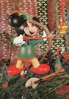 Mickey Mouse W Bow Robin Hood Doll Archery Old Postcard Walt Disney - Andere