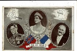 CPA-Carte Postale-Royaume Uni-France- Famille Royale Anglaise  Et Président Français-1938 VM9664 - Royal Families