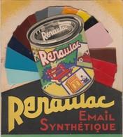 -  Très Beau Dépliant Publicitaire Peinture RENAULAC  - 017 - Reclame