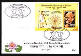 2019 URUGUAY -  FDC COVER ADDRESSED TO YOU ! - FREE SHIPPING -  Mahatma GANDHI - INDIA LEADER 150 BIRTH ANNIVERSARY - Mahatma Gandhi