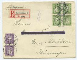 1925 Dänemark R-Brief Kopenhagen Gera - 1913-47 (Christian X)