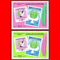 LIBYA - 1984 Palestine Israel Intifada Map Birds Stamp-in-Stamp (MNH) - Libyen