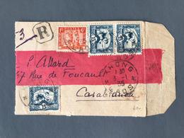 Indochine, Grand Fragment De Lettre De Khong (Laos) 1935 - (B1709) - Indochina (1889-1945)