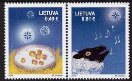 Lithuania - 2019 - Christmas - Mint Stamp Set - Lithuania