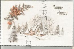 Mignonnette. Maisons Dans La Neige à L'orée De La Forêt. Dorée. - Anno Nuovo
