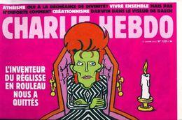 Charlie Hebdo N°1225 : L'inventeur Du Réglisse En Rouleau Nous A Quittés De Collectif (2016) - Books, Magazines, Comics