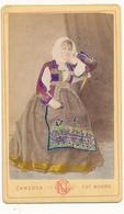 Costume Nuorais, SARDAIGNE - Photo CDV - G. Camedda, Nuoro - Oud (voor 1900)