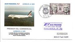 PREMIER VOL COMMERCIAL PARIS-BERLIN PAR  AIRBUS A 320 1988 - Airplanes