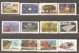 France: Full Set Of 12 Used Stamps, Ground Protection, 2011, Mi#5045-5056 - Francia
