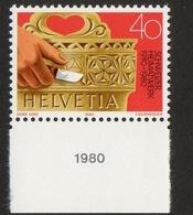 Helvetia / Milk Cask With Woodcarvings / 1980 / 40 / Gebr. Lenz / Courvoisier - Suisse