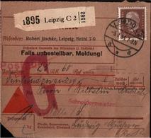 ! 1934 Nachnahme Paketkarte Deutsches Reich, Postgut, Leipzig - Brieven En Documenten