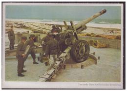 Dt-Reich (006240) Propagandakarte Farbig, Deutsche Marineartillerie Beim Küstenschutz, Ungebraucht - Allemagne