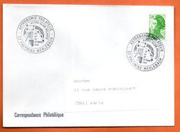57 FREYMING MERLEBACH   ASTRO CLUB POLAIRE    1984 Lettre Entière N° AB 332 - Commemorative Postmarks