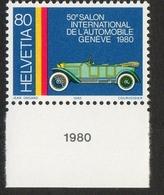 "Helvetia / ""Pic Pic"" Of The Geneva Automobile Factory / 1980 / 80 / Jean Ongaro / Courvoisier - Suisse"