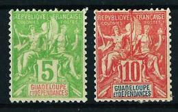 Guadalupe (Francesa) Nº 40-41 Nuevo* Cat.18,50€ - Guadalupe (1884-1947)