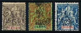 Gabón (Francés) Nº 21/3 Usado Cat.29€ - Gabon (1886-1936)
