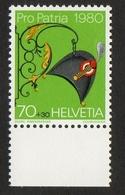 Helvetia / Hatter (19th Cty.) / 1980 / 70 + 30 / Georg Rimensberger / Courvoisier - Zwitserland