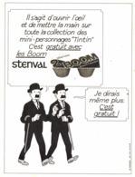 """PUB YAOURT """" STENVAL """"avec Les DUPONTD   """" TINTIN """" 1971  (1) - Livres, BD, Revues"""